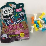 Colorful Bone Shape Fruits Flavor Compressed Candy