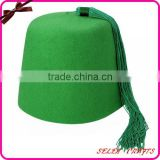 100% Sheep Wool Green Fez hats with Green Tassel                                                                         Quality Choice