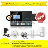 Voice announcement home alarm GSM module anti-theft systems with motion sensor and touch with SoS button --yl-007M2K