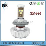 Newest 3S car led headlight h4 all in one with 5 color 3000K,4300K,6500K,8000K,10000K