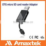 Amaxtek USB 3.0 Card Reader with Micro USB Male Connector