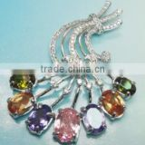 Fashion Jewelry, 925 Sterling Silver Jewelry Wholesale Crystal, Sterling Silver Charm Artificial Pendant PT90029