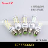 7W 12W 15W 20W 25W LED E27 Light 220V 110V Samsung 5730 Smart IC Chip LED E14 Led Corn Bulb Lampada Led Lamp For Home Lighting