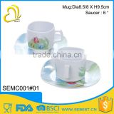 Quality assurance priced direct selling sets saucer melamine tea cup