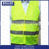 Mesh polyester fluorescent fabrics reflective vest work clothes                                                                                                         Supplier's Choice