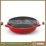 China Wholesale 28cm aluminum stainless steel wok/saute pan