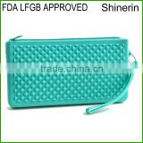 Alibaba office&school supplies Silicone material wholesale pencil pouch