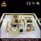 apartment house model, miniature scale house model with furniture                                                                         Quality Choice