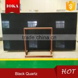 China gold supplier black quartz floor tiles