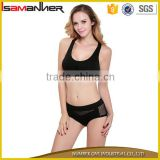 Women wireless sexy running sexy sport underwear with panty set