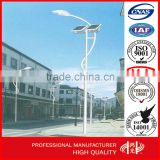 Solar Panel Single Arm Street Lighting Pole ,Road lamp Post with Galvanization and Powder Coated                                                                         Quality Choice