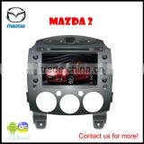 Car DVD GPS Player for Mazda 2, 7 inch PIP/12 languages USB/SD/BT/IPOD/AV-in/AUX/ back view/car logo/wallpaper