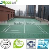 outdoor synthetic badminton court flooring surface suitable for college