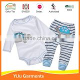 Top selling combed cotton baby boy clothes Baby clothes set