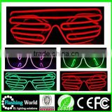 OEM design OEM/ODM party gift el wire flash glasses