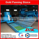 high banker gold panning sluice box, gold tailing recovery machine