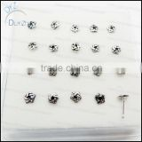 silver nose stud pins rings
