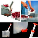 2015 Free shipping New High Quality Novelty Super Cherry Pitter Stone Remover Machine Cherry Corer With Container Kitchen Tool