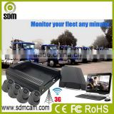 4ch harddrive 3g realtime video monitoring car gps tracker with people counter for passengers flowing calculation