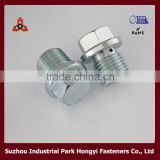 High Strength Bolts 10.9 Grade In Flat Hex Flange Head Drilled Hole Construction