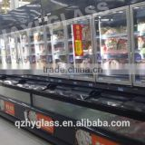 high durability all-glass look energy savings up to 70% glass sliding doors for supermarket air curtain
