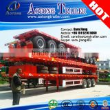 AOTONG 40ft tri axles container flat bed semi trailer with Twist Locks on Deck for Pilippine market