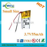 The newest ultra small 3.7V lithium polymer battery 400920