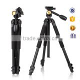 Professional panhead ball head expandable aluminum Beike brand DSLR digital video photographic fotomate camera tripod