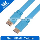 High speed flat hdmi cable 10m hdmi 1.4v with 3D&blue ray with up to HD 1080P