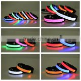 Nylon LED light flashing dog collar LED collars for dogs                                                                         Quality Choice