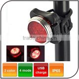 Bike Accessories Waterproof Mini LED Bicycle Rear Light USB Rechargeable Bike Light Cycling Lights