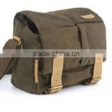Vintage Canvas DSLR Camera Bag Messenger Shoulder Bag For Nikon Sony Canon Camera Use waterproof