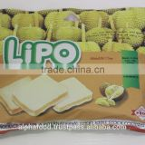 LIPO 210G/Bag Durian Egg Cookies for Breakfast and Snack Vietnam with Good Price and Delicious