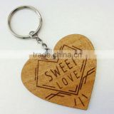 wooden heart shape popular 2016 Wood key chain SD-314