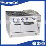 Professional Free Standing Commercial 900 Series gas range with 4 burner & oven                                                                         Quality Choice