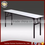 Latest different size white antique folding round wooden dining table for restaurant