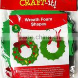 Free of Formamide 6PCS Christmas Wreath Foam Shapes