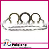 Simple style chain belt with three alloy hoop