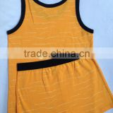 2015 new summer children's wear cotton baby vest shorts sport suit.low pir moq huoyuan