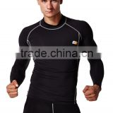 Wholesale or custom men spandex Mens compression long sleeve shirts base under skin layer top for All Sports