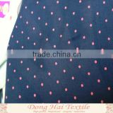 blue points design thin cotton fabric cut pieces