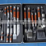 promotion gift hot selling stainless steel 23pc BBQ tools in aluminium case grilling set