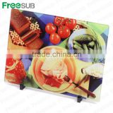 Wholesale blank custom L390*H285*W4mm cutting board sublimation toughened glass frames picture