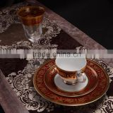 INQUIRY about Embossed gold&red design of crystal glasses