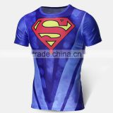Drop Shipping Men T-shirt 1 PCS MOQ Superhero Sublimation Print Tops N10-21