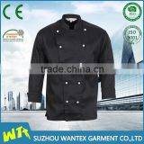 black Custom Polyester Chef Cook Uniform