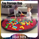 "Large 57"" Baby Kids Play Floor Mat Toy Storage Bag Organizer Quickly Easily Folds Up, Perfect for Building Blocks DE00018"