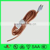 Fabric coated steel wire braid knit cable wire and cord