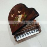 Antique Color Music Jewelry Box in Piano Shape