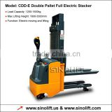 CDD-E Double Pallet Full Electric Stacker